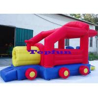 Cheap Fabric 6.5m Inflatable Truck Commercial Bounce Houses For Family Use Manufactures