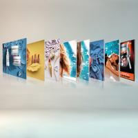 China Free Standing Seg Photo Fabric Picture Frames Display For Exhibition Shopping Mall on sale