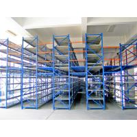 China Structural Rack Supported Mezzanine With Racking Frames / Step Beams / Steel Panel on sale