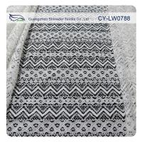 China Jacquard Nylon Cotton Corded Lace Fabric For Garment Material SGS BV ITS CY-LW0788 on sale