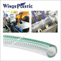 PVC Spiral Steel Wire Reinforced Hose Making Machine / Extrusion Line Manufactures