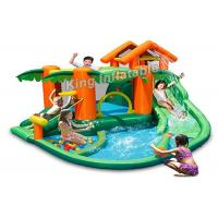 Cheap PVC Tarpaulin Tropical play center, jump castle, water slides for kids in summer for sale