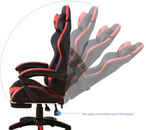 Office KD 1330mm Polychromatic Red Leather Gaming Chair Manufactures