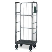 Mild Steel Roll Cage Trolley Warehouse Logistic Storage With Wheels Manufactures