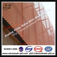 Anodized red color aluminum expanded metal for wall facade/cladding 2 Manufactures