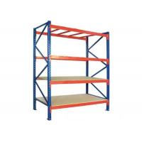 China Q235B Steel Warehouse Heavy Duty Storage Racks Pallet Racking With Plywood Board on sale