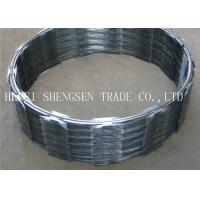 Elegant Appearance CBT 65 Razor Wire / Stainless Steel Barbed Wire For Railway Manufactures
