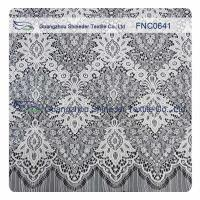 White Nylon Polyester Lace Fabric Manufactures