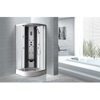 Matt Silver Profiles Curved Glass Shower Enclosures , Enclosed Shower Cubicles Manufactures