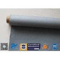 Buy cheap Grey Silicone Coated Glass Fabric 1500gsm Two Side Coated Glass Fiber Cloth from wholesalers