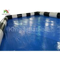 Commercial Blue Inflatable Swimming Pool For Adults Fun With CE Blower Manufactures