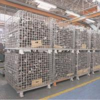 Buy cheap Pallet Forklift Storage HDG Stackable Wire Mesh Container from wholesalers