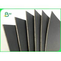 1.5MM 2MM 70 * 100cm Black Paper With Grey Back For Boxes Packing Manufactures