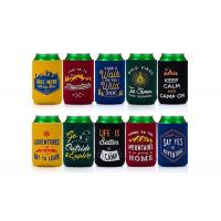 Eco Friendly Neoprene Bottle Holder Custom Can Koozies For Promotional Gifts Manufactures