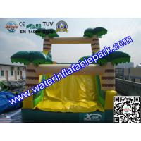 Quality Inflatable Bouncer Slide , Commercial Grade Bounce Houses Coconut Trees Tropical for sale
