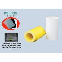 Waterproof Clear Conductive HIPS Plastic Sheet Printing , White / Yellow Manufactures
