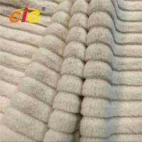Decorative Polyester Jacquard Fake Fur For Garments / Car Seat Cover 150CM Width Manufactures