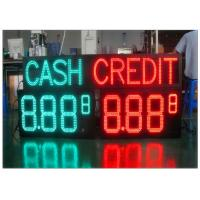 China Custom Size Large Outdoor LED Price Signs For Gas Stations With 4 And 5 Digit Formats on sale