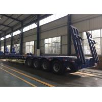 Hydraulic Flatbed Semi Trailer Truck 4 Axles 50-80 Tons Loading Capacity Manufactures