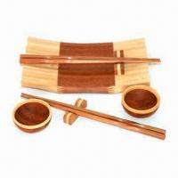 Bamboo Dinnerware, Includes Dishes, Chopsticks and Cutting Board Manufactures