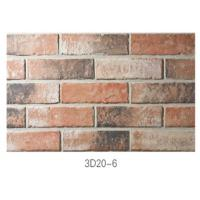 210 * 55 * 12mm Clay Thin Veneer Brick / Thin Brick Veneer Interior Walls