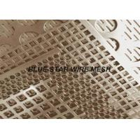 Gold Decorative Brass Perforated Metal Sheet With Holes Anti - Corrosion Manufactures