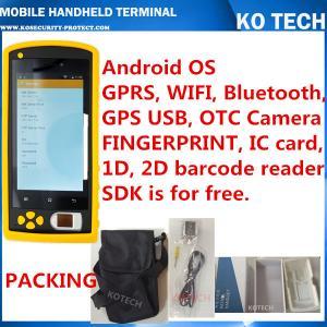 KO-HM606 Handheld Rfid Fingerprint Sensor Barcode Reader Manufactures