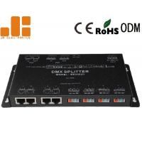 Four Channels Output DMX Signal Splitter With RJ45 / Screwless Terminal Interfaces Manufactures