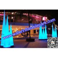 2m Lighting Inflatable Stages Decoration / Inflatable Cone For Wedding Backdrops Manufactures