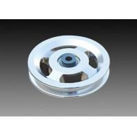 China RAPID Silver Alloy Pulley Wheels , Steel Cable Pulley Wheels With Bearings on sale