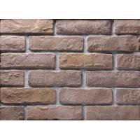 Decoration Wall Thin Veneer Brick , Antique Texture Fire Clay Bricks For Building Manufactures