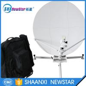 China 1.0m ku band offset carbon fiber manual portable satellite dish antenna on sale