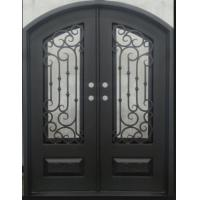 62 in. x 82 in. Orleans Classic 3/4 Lite Painted Oil Rubbed Bronze Hammered Wrought Iron Prehung Front Door Manufactures