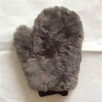 China super long hair sheep skin wool mitt,professional car care wool wash glove on sale