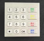 Dust Proof Industrial 16 Keys Metal Keypad For Kiosk / Self Service Terminal Manufactures