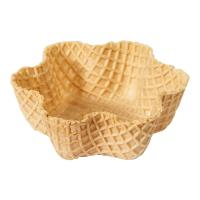CE Crispy Tart Chocolate Waffle Cones 92mm Caliber , Custon Size