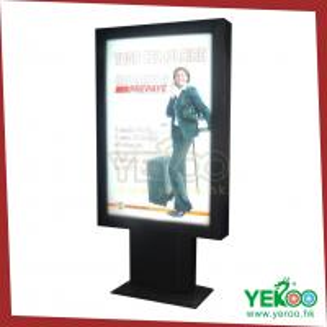 China advertising signage aluminum frame with LED backlit scrolling light box on sale