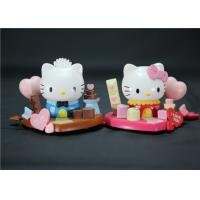 Valentine'S Day Hello Kitty Plastic Figurines Eco - Friendly PVC ABS Material Manufactures