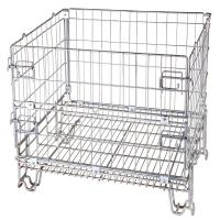 Logistics Wire Mesh Crate 4 Layers Stackable Space Saving High Visibility Manufactures