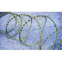 Welded razor barbed Galvanized Iron Wire PVC coated Protecting fence Manufactures