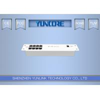 Easy Installation In Ethernet Distribution Box 8 10 / 100M Port Metal Case Manufactures