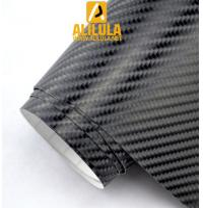 China Premium 4D Gloss Black Carbon Fiber Vinyl Wrap Bubble Free Air Release on sale
