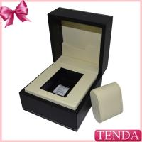 Luxury Engraved Embossing Debossing Thread Stitching Silver Golden Hot Stamping Suede Leather Watch Box Manufactures