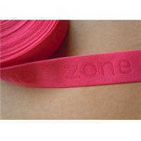 Quality 38mm Custom Woven Ribbon Trim Underwear Elastic Band Embroidered for sale