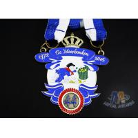 Durable Custom Insert Medals , Crown Awards Medals Antique Silver Plating Manufactures