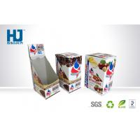 Corrugated Paper Counter Display Boxes Spot Color Printing For Coffee Manufactures