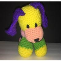 Homemade Granny Grandma Knit Dog Puppy Stuffed Animal Plush 11cm Pink Yellow Blue Manufactures