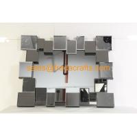 FR-16724  clear mirror color 3D rectangle shape venetian  wall mirror Manufactures