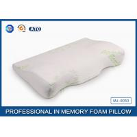 China Anti-Snoring Bamboo Curved Memory Foam Wedge Pillow For Therapeutic Sleeping on sale