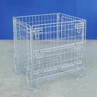 Foldable Industrial Wire Container Power Coated Rust Resistant Manufactures